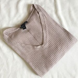 Oversized Waffle Knit Thermal Top